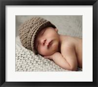 Baby In Brown Knit Cap Fine-Art Print