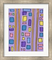 Squares and Stripes Purple Fine-Art Print