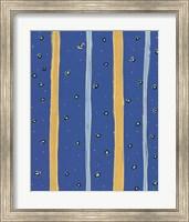 Bubbles and Stripes Blue Fine-Art Print