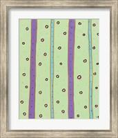 Bubbles and Stripes Mint Fine-Art Print