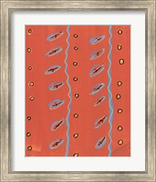 Bubbles and Stripes Salmon Fine-Art Print