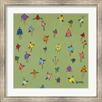 Little Birds - Green Fine-Art Print