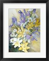 Iris, Daisies, And Daffodils Fine-Art Print
