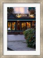 Chablis Bar Cafe, Chablis, Bourgogne, France Fine-Art Print
