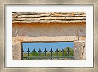 Gate and Key Stone Carved with Montrachet Fine-Art Print