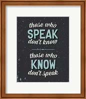 Those Who Speak Fine-Art Print
