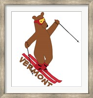 Skiing Bear Fine-Art Print