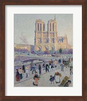 The Quai Saint-Michel And Notre-Dame, Paris 1901 Fine-Art Print