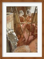 The Young Schwartz Girls Drawing, , 1889 Fine-Art Print