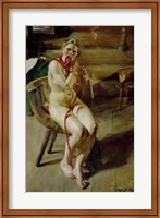 Nude Braiding Her Hair, 1907 Fine-Art Print