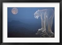 Tiger And Full Moon Fine-Art Print