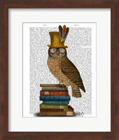 Owl On Books Fine-Art Print
