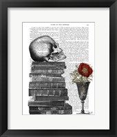 Skull And Books Fine-Art Print
