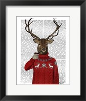 Deer in Ski Sweater Fine-Art Print