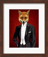 Fox In Evening Suit Portrait Fine-Art Print
