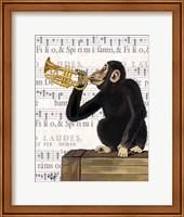 Monkey Playing Trumpet Fine-Art Print