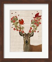 Deer and Love Birds Fine-Art Print
