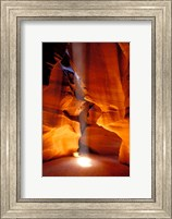Sun Shining Beam of Light onto Canyon Floor, Upper Antelope Canyon Fine-Art Print