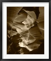 Red Sandstone Walls, Lower Antelope Canyon (Sepia) Fine-Art Print