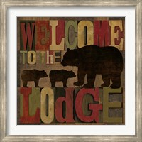 At the Lodge Printer Blocks IV Fine-Art Print