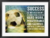Success Soccer Quote Fine-Art Print