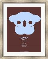 Blue Koala Multilingual Fine-Art Print