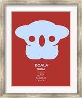 Purple Koala Multilingual Fine-Art Print