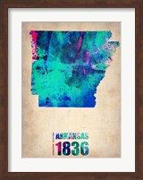 Arkansas Watercolor Map Fine-Art Print