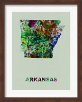 Arkansas Color Splatter Map Fine-Art Print