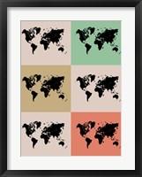 World Map Grid 2 Fine-Art Print
