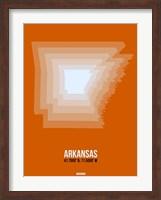 Arkansas Radiant Map 3 Fine-Art Print