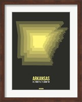 Arkansas Radiant Map 5 Fine-Art Print