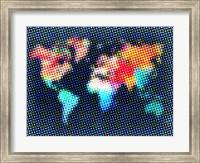Dotted World Map 2 Fine-Art Print