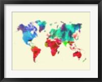 Dotted World Map 4 Fine-Art Print