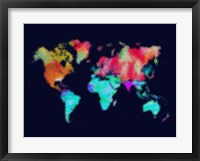 Dotted World Map 5 Fine-Art Print