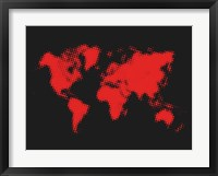Dotted Red World Map Fine-Art Print