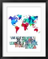 World Map Quote Mahatma Gandi Fine-Art Print