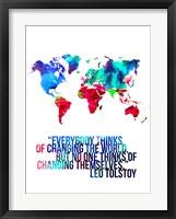 World Map Quote Leo Tolstoy Fine-Art Print