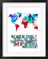 World Map Quote Muhammad Ali Fine-Art Print