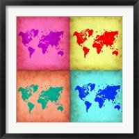 Pop Art World Map 1 Fine-Art Print