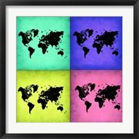 Pop Art World Map 2 Fine-Art Print