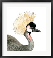 Watercolor Crested Crane Fine-Art Print