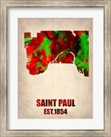 Saint Paul Watercolor Map Fine-Art Print