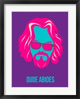 Dude Abides Purple Fine-Art Print