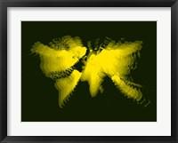 Yellow Radiant World Map Fine-Art Print