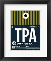 TPA Tampa Luggage Tag 2 Fine-Art Print