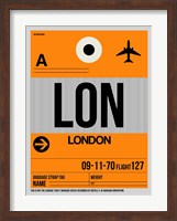 LON London Luggage Tag 1 Fine-Art Print