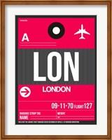 LON London Luggage Tag 2 Fine-Art Print
