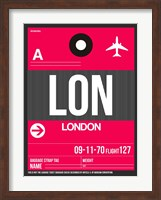 LON London Luggage Tag 2 Fine-Art Print