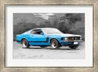1970 Ford Mustang Boss Blue Fine-Art Print
